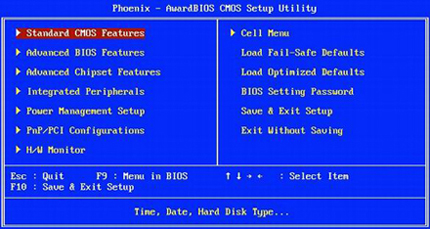 Cmos and bios settings — pic 1